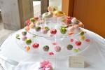 和ケーキ季節の上生菓子をちりばめました
